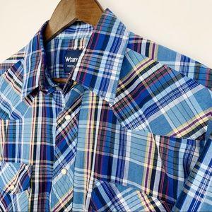 Wrangler Pearl Snap Mens Shirt